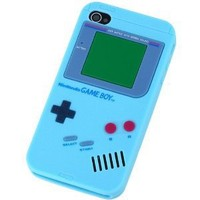 LIGHT BLUE Game Boy Series Silicone Rubber iPhone 4/4S Case