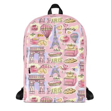 Paris METRO Couture: Cafes In Paris Backpack