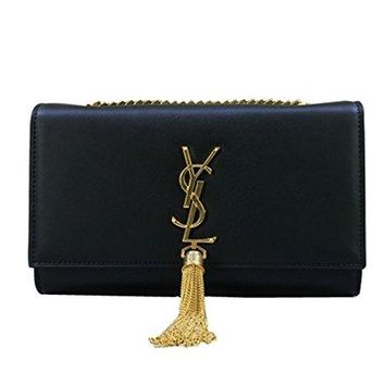 YSL Saint Laurent classic plain gold chain shoulder bag (large)  YSL bag