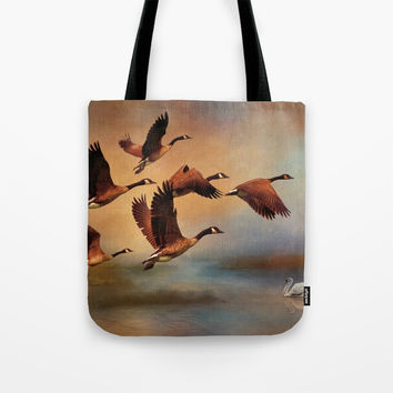 All Things Bright And Beautiful Tote Bag by Theresa Campbell D'August Art