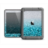 The Turquoise & Silver Glimmer Fade Apple iPad Mini LifeProof Nuud Case Skin Set