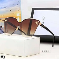 GUCCI Tide brand metal bee big box men color film polarized sunglasses #3