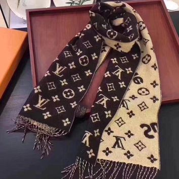 ONETOW Perfect LV X Supreme Women Velvet Scarf Shawl Silk Scarf