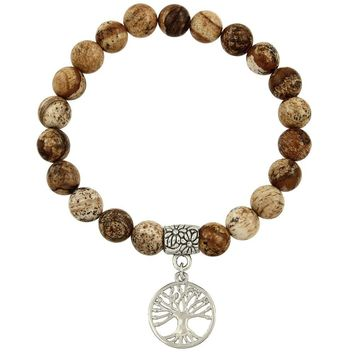 Healing Tree of Life Bracelet in Jasper Beads