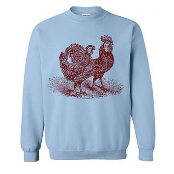 Chickens Sweater Flex Fleece Pullover Classic Sweatshirt - XS S M L Xl and Xxl (Color Options)