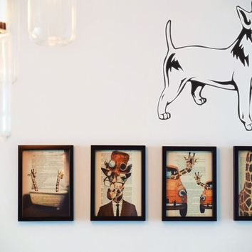Bull Terrier Miniature Vinyl Wall Decal (Removable Sticker)