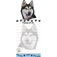 Siberian Husky Tall Magnetic Notepad