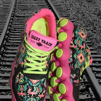 PINK AZTEC RUNNING SHOES