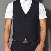 5-Button Pinstripe Vest