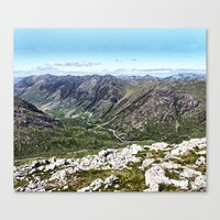 Glencoe Pass from Stob Coire Raineach, Scotland Canvas Print by anipani