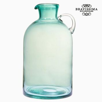Green glass jar with handle by Bravissima Kitchen