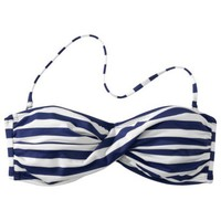 Mossimo® Women's Mix and Match Stripe Bandeau Swim Top -Indigo Night