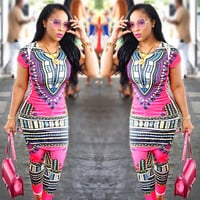 Traditional African Clothing Two Piece Set