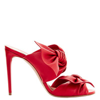 Casadei Tango Double Bow Strap Leather Sandals - INTERMIX®