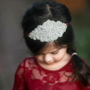 Josephine Wine Crystal Jewel Headband