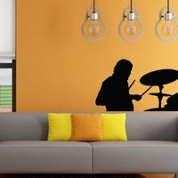 Wall Decals Drummer Music Decal Vinyl Sticker Home Decor Bedroom Interior Window Decals Art Murals Chu1317