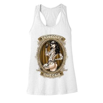 "NEW ""TATTOOED QUEEN"" LADIES RACERBACK TANK"
