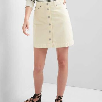 Button-front denim mini skirt | Gap
