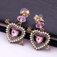 Jewelry Fashion Betsey Johnson Fashion Rhinestone Diamante Earrings **Stunning*