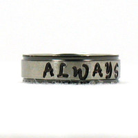 Personalized Phrase Ring, Stainless Ring, Stainless Steel Ring,  Personalized Ring, Custom Name Ring, Hand Stamped Ring, Hand Stamped