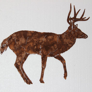 Buck Deer Profile Shot Metal Wall Art Country Rustic Hunting Home Decor