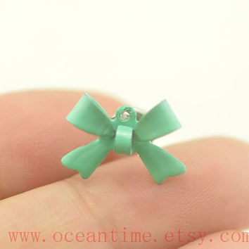 Tragus Earring Jewelry,little bow piercing jewelry ear Helix Cartilage jewelry,bow earring,friendship gift,oceantime