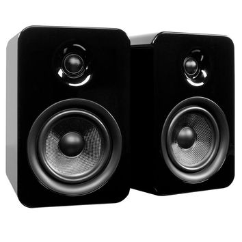 Kanto: Yumi Passive Bookshelf Speakers - Gloss Black (YUMIP-BLKGL)