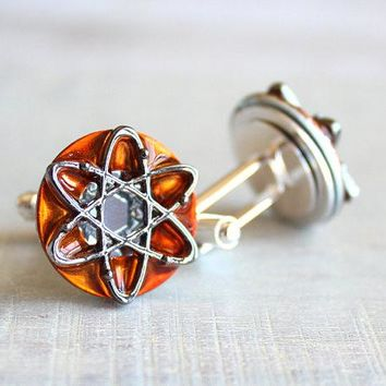 Atom cufflinks - additional colors available