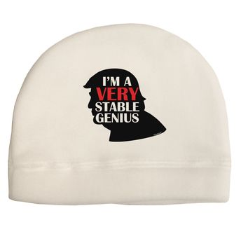 I'm A Very Stable Genius Adult Fleece Beanie Cap Hat by TooLoud