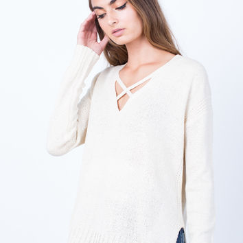Knitted in Love Sweater Top