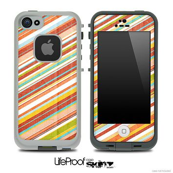 Vintage Slanted Stripes Skin for the iPhone 5 or 4/4s LifeProof Case