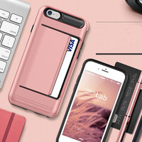 Verus Armor Slide Credit Card Case For iPhone 5 5S / 6 6S / 6 Plus 6S Plus Slot Wallet ID Layer Shock Proof Hard Cover Shell
