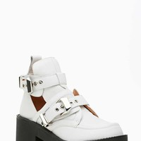 Jeffrey Campbell Coltrane Cutout Boot - White/Black