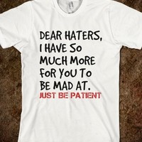 Supermarket: Dear Haters from Glamfoxx Shirts