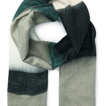 Green Ombre Striped Scarf - View All - Accessories
