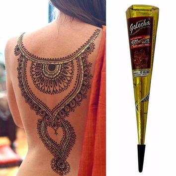 ac PEAPO2Q New Arrival Mini Natural Indian Tattoo Henna Paste For Body Drawing 25gram Black Henna New Arrival