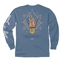 Lightbulb Fire Long Sleeve Tee in Marine by Lily Grace