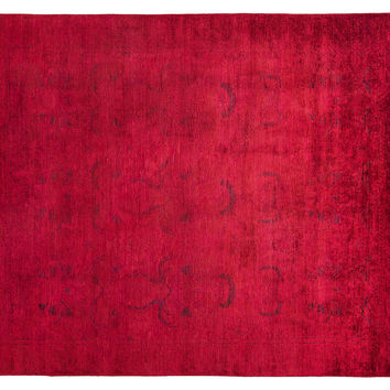 "10'1""x8'1"" Handmade Vibrance Rug, Red, Area Rugs"