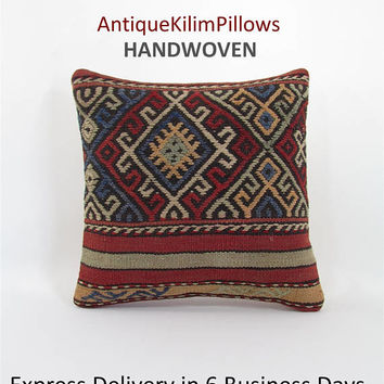 kilim pillow cover cushions oriental pillow case throw pillow urban kilim pillow kilim rug decorative pillow case ethnic pillow cover 000823