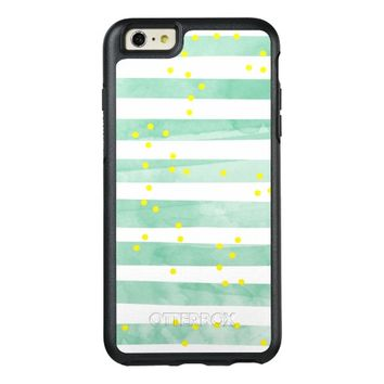 Vintage White Stripes Pattern OtterBox iPhone 6/6s Plus Case