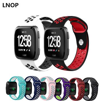 LNOP Sport watch band For fitbit versa strap correa Replacement Bracelet Silicone wrist wristband watchband belt fitbit bands
