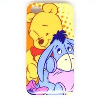 Winnie the Pooh Hard Cover Back Case for iPhone 4 4G 4S