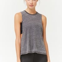 Active Heathered Burnout Tank Top