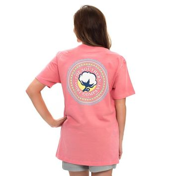 Bohemian Logo Tee in Strawberry Pink by The Southern Shirt Co.