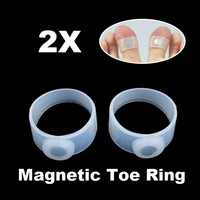 2pcs Slimming Weight Loss Keep Fit Magnetic Toe Ring