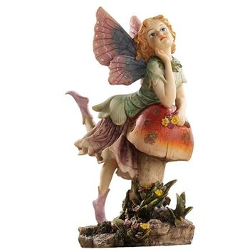 SheilaShrubs.com: The Fairy Dust Twins Garden Collection - Mushroom EU4932 by Design Toscano: Garden Sculptures & Statues