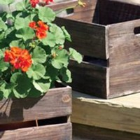 Wooden Slatted Box Crate - LAST CALL - PRCJJ1003