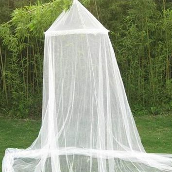 Excellent ! New White House Bed Lace Netting Canopy Circular Mosquito Net Mosquitera Malla De Mosquito 1pc Free Shipping