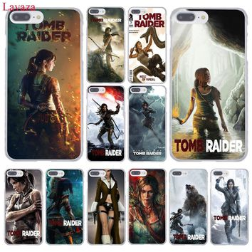 Lavaza Tomb Raider Hard Phone Case for Apple iPhone XR XS Max X 8 7 6 6S Plus 5 5S SE 5C 4S 10 Cover 7Plus 8Plus Cases