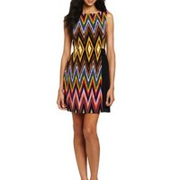 Maggy London Women's Printed Matte Jersey Dress